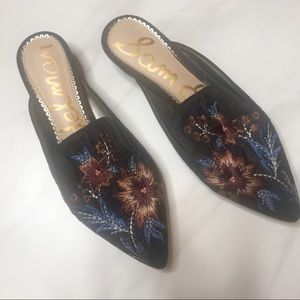 Sam Edelman | Blue Aven Embroidered Loafers 7